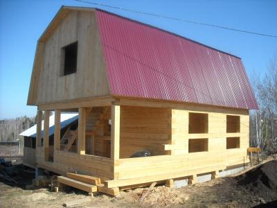 Строительство загородных домов из бруса.