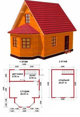 Строительство дачных домов «под ключ», сборка бань